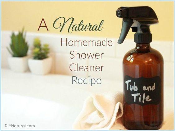 Homemade Shower Cleaner Natural Shower Tub Tile Spray
