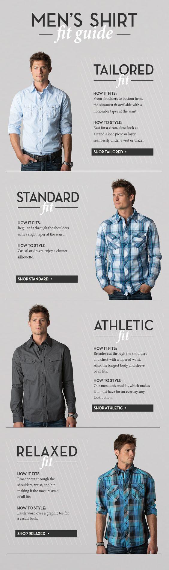 Men's shirt fit guide