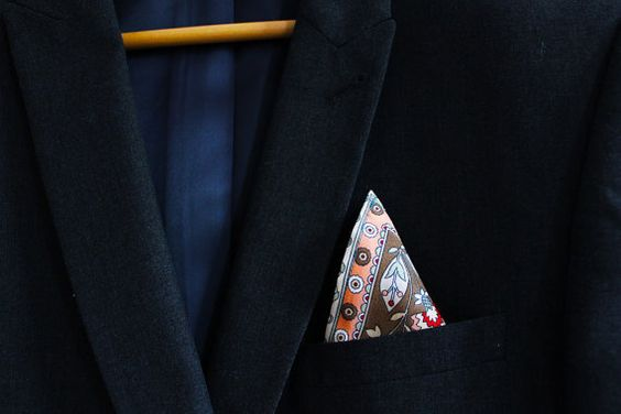 One of Baby Pique's gorgeous handmade pocket squares - perfect for a #wedding