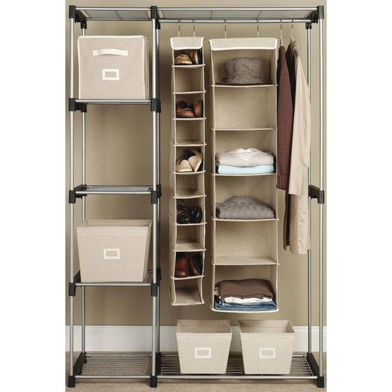 Double Rod Closet - Closet Organizers - Storage And Organization -... (235 BRL) ❤ liked on Polyvore featuring home, home improvement, storage & organization and rooms