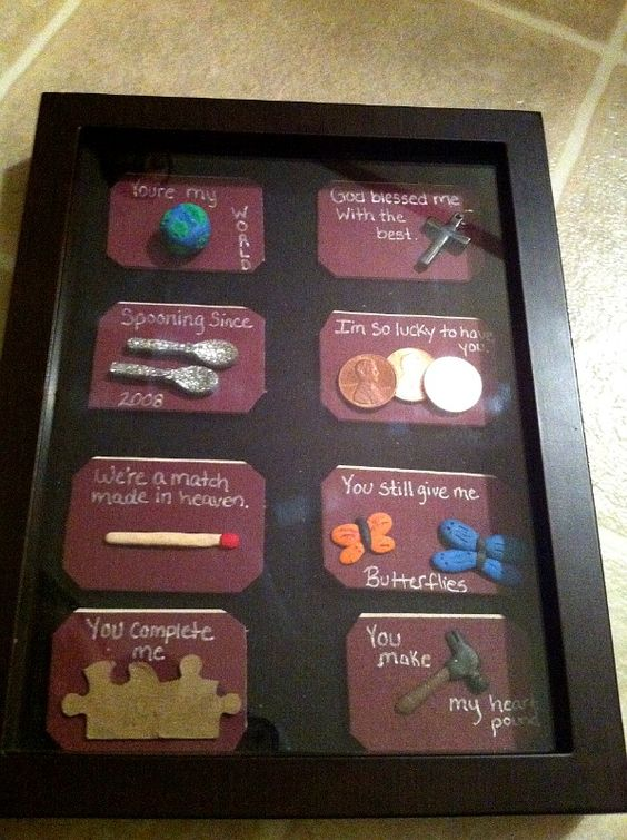 My homemade gift i made for my fianc for our 4 year for Gift for your fiance