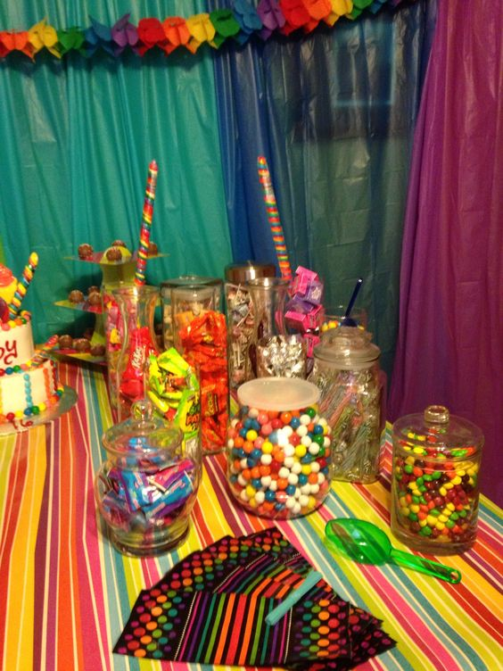 Sweet sixteen candy bar! Im soo doing this just one table of candy candy candy!!