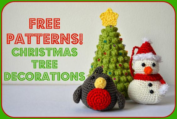 Amigurumi Crochet Patterns Free Doll : Amigurumi Christmas Tree Decorations: Robin ~ Free PDF ...