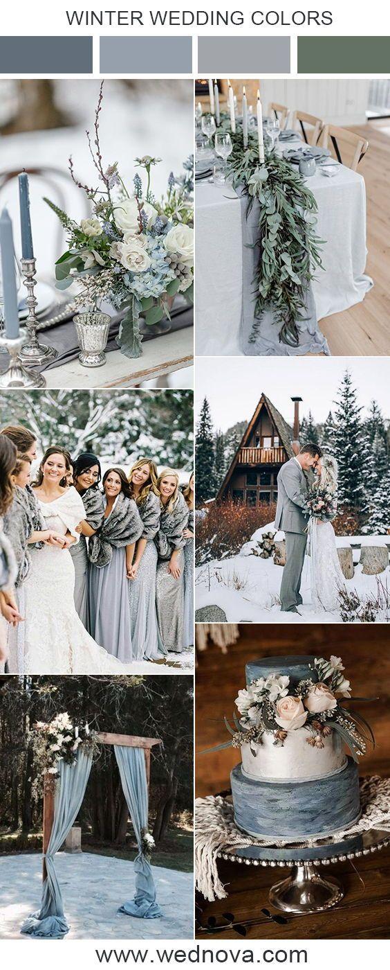 Dusty Blue Wedding Color Ideas For Winter Weddings Wedding Weddings Weddingcol Winter Wedding Color Palette Blue Winter Wedding Wedding Color Schemes Winter