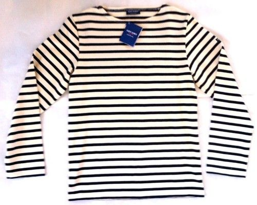 Saint james french striped sailor shirt cream navy 100 for St james striped shirt