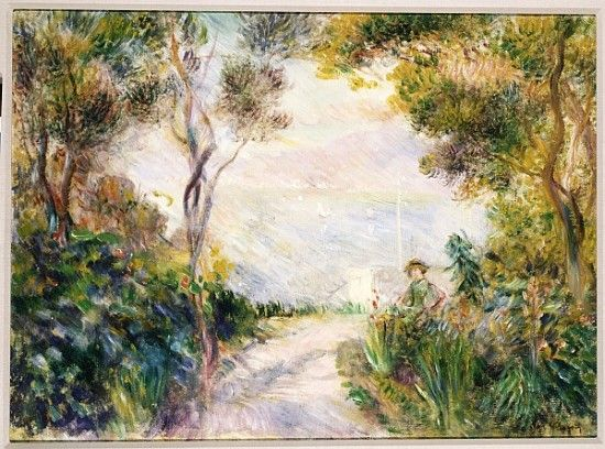 End of the Path, View of Naples by Pierre-Auguste Renoir (French 1841-1919)