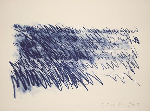 """""""Sea,"""" Cy Twombly"""