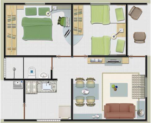 11 modelos de plantas de casas pequenas para construir for Modelos de casa pequenas para construir