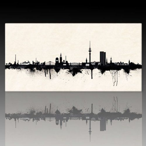 Amazing Kunst Druck Auf Leinwand *Skyline HAMBURG BW* (div. Größen) Bild Fertig Auf  Keilrahmen ! Graffiti Like Banksy Art Gemälde Kunstdrucke, Wandbilder Su2026 ... Nice Look
