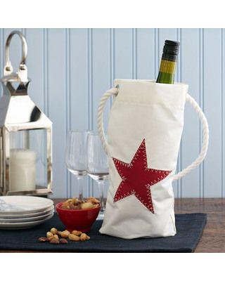 Red Star Wine Bag