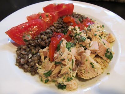 Lentil Tuna and Roasted Pepper Salad