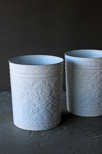 It is so difficult to find pretty waste bins that fit a romantic bedroom. These Sadi Decorative White Waste Bins will do the job at only £20 each
