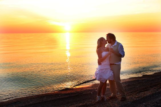 Nope. This is not a stock photo. Sean and Stacey tied the knot in September 2015 at Camp Kintail on the shore of Lake Huron. What a wonderful moment captured on camera. http://www.campkintail.ca/rentals-groups/weddings/: