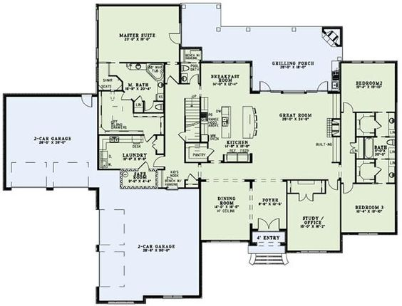 House Plan 110 00989 European Plan 4 076 Square Feet 3