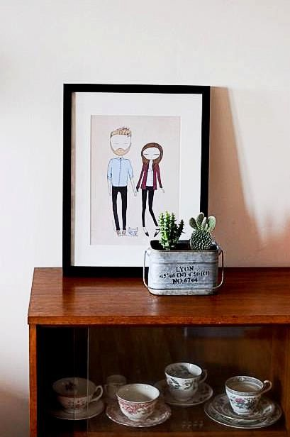 Custom couple portrait bespoke couple by Blankaillustration, £60.00
