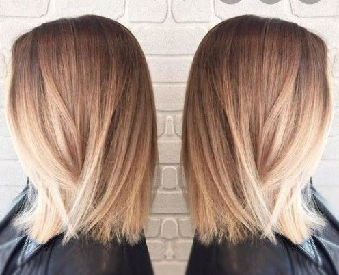 Pin Von Brittany Scamahorn Auf Hair Makeup Nails In 2020 Bob Frisur Glatt Ombre Haare Lang Haarschnitt Glatte Haare