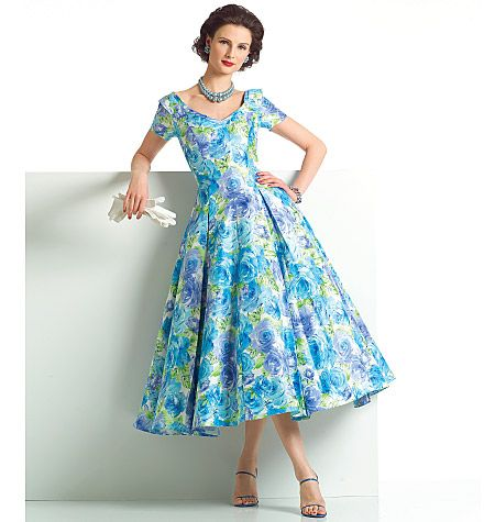 Details about Vogue Sewing Pattern 2903 Vintage Style 1957 Dress ...