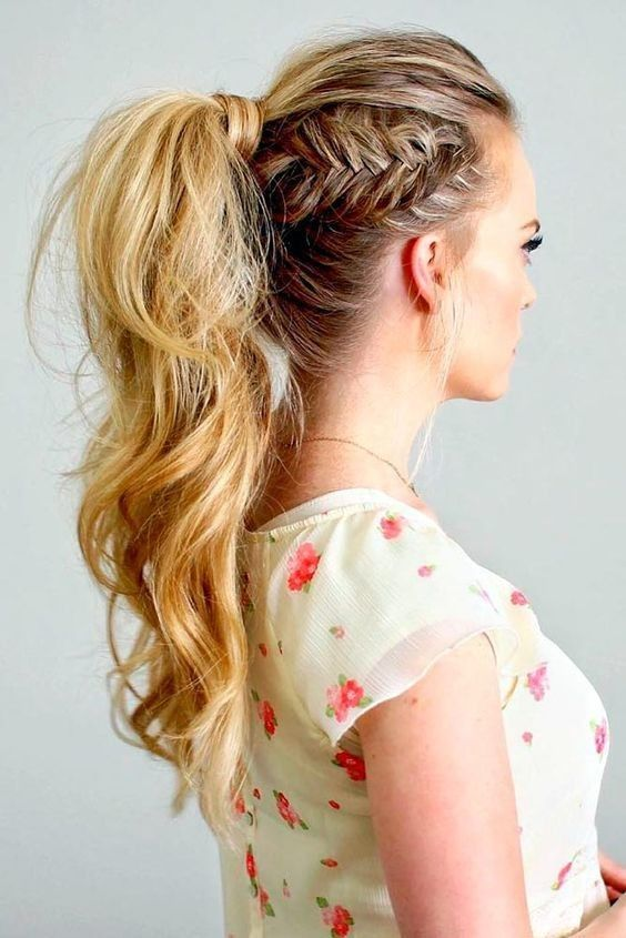 You've already seen this with a standard or French braid, so try a fishtail braid next!Found here.
