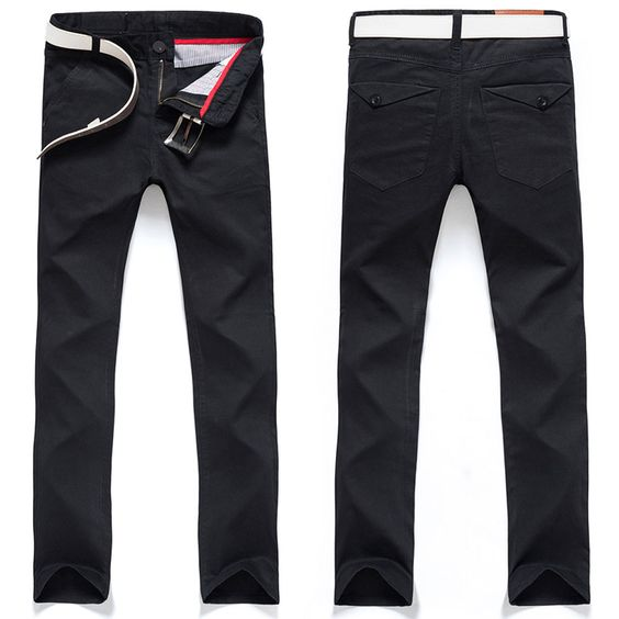 Slim Fit Chinos Straight Leg Trousers - 9 Colors