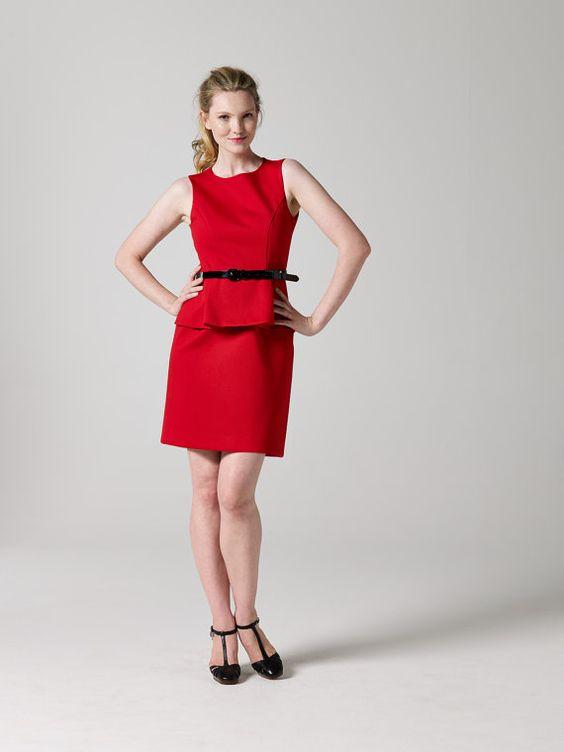 Peplum Dress Sewing Pattern | TeachMeFashion on Etsy#peplum #teachmefashion #sewingpattern