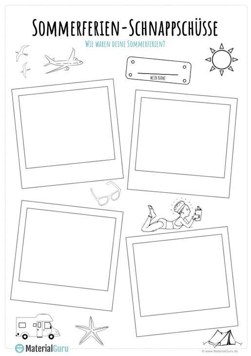 Sommerferien Polaroids Polaroids Schule Sommerferien In 2020 Kindergarten Portfolio Worksheets Free Summer Holiday