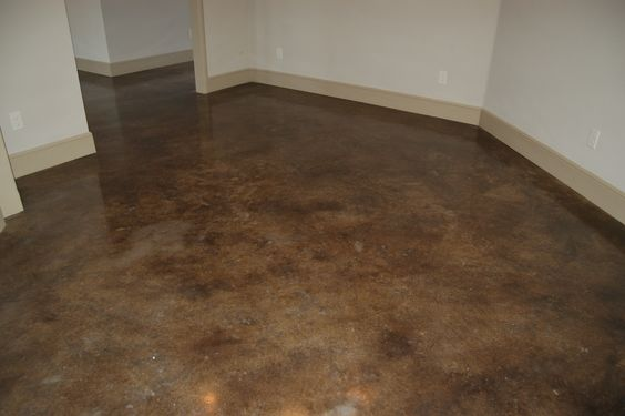 Stained concrete black stains and concrete floors on for Black stains on concrete