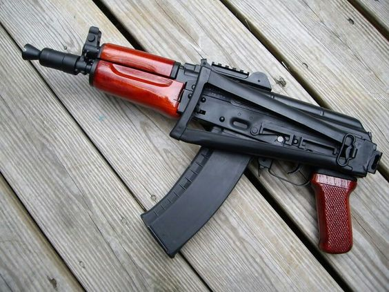 """Ak74 """" I tried telling y'all cats there was an AK-74. Folding stock plus an add on to the barrel to keep it from jumping around at full auto."""""""