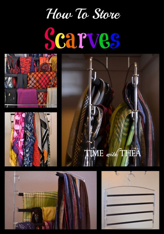 How To Store Scarves - Are you looking for ways to organize your scarf collection? This is a very simple inexpensive storage idea that does not take up a lot of room in your closet!