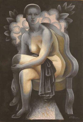 Jean Metzinger - Nu aux Hortensias, 1935