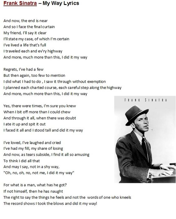Sinatra Quotes: Lyrics To Songs & Poems