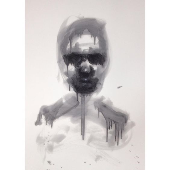 「Charcoal and oil on paper.  #oilpainting #oilpaint #people #political #death #war #charcoal #instaart #monochrome #monochromatic #blackandwhite #fineart…」