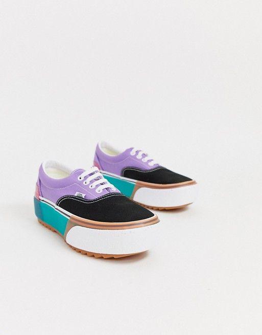 Vans Era Stacked colour block trainers