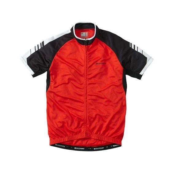 Madison Peloton Short Sleeve Mens Jersey Red
