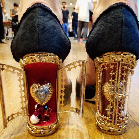 These are the coolest heels I have seen! Incredible details of a heel which opens up to reveal a heart!
