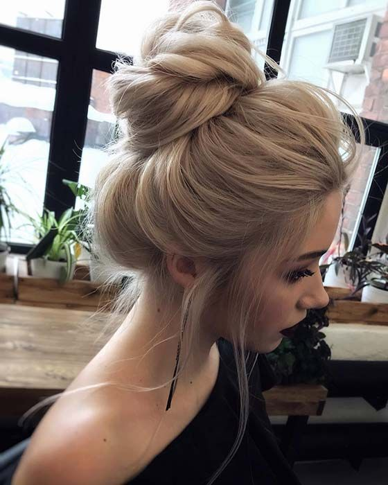 21 Cute And Easy Messy Bun Hairstyles Stayglam Long Hair Updo Long Hair Styles Bun Hairstyles For Long Hair