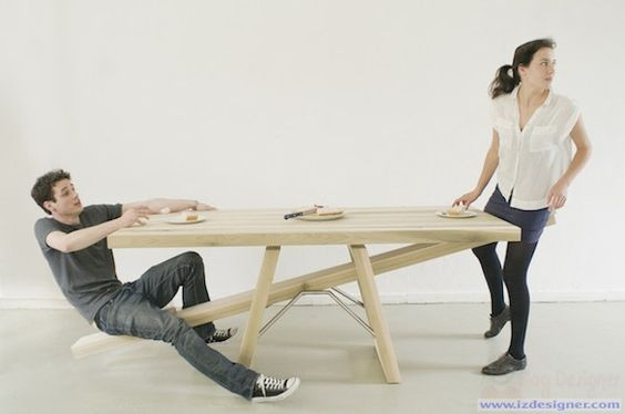 """Độc đáo bộ bàn ăn """"bập bênh"""" của Marleen Jansen"""