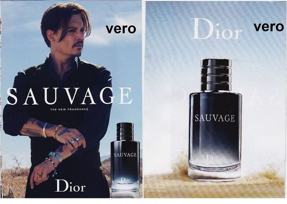 DIOR Sauvage mag print ad open + sniff fragrance cologne ... Johnny Depp Cologne