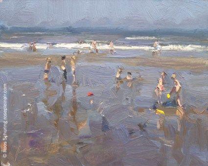 """SSU7 ""Children – First days of summer""(available)"" - Original Fine Art for Sale - © Roos Schuring"