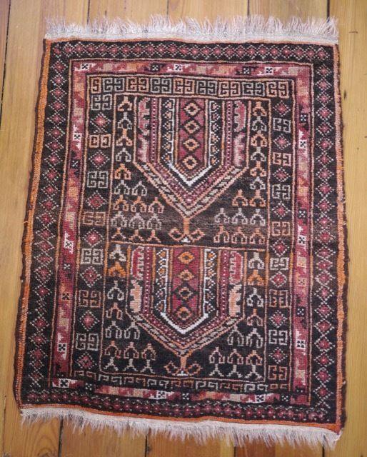 vintage turkish persian 100 wool hand knotted mini kilim rug wall hanging 20x24 unbranded. Black Bedroom Furniture Sets. Home Design Ideas