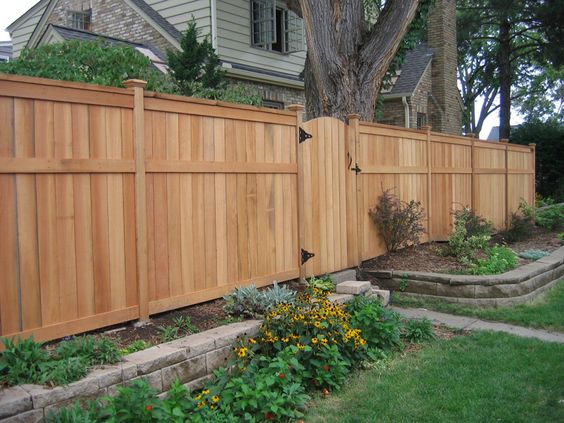 Fence for backyard full height for sides and back lower for Garage fence