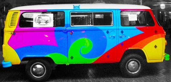Rainbow Vans: Colors, Vw Vans And Rainbows On Pinterest