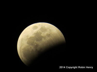 Our moon in partial eclipse.