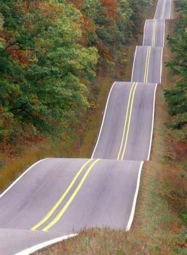 I swear someone took a picture of the road we took to Grandma's house when I was little and got car sick every time!