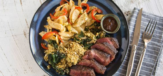 I'm cooking Montreal Steak with Green Chef https://greenchef.com/recipes/paleo-montreal-steak-with-chard-gratin-roasted-parsnips-and-red
