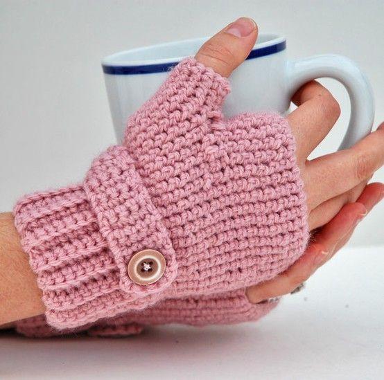 Crocheted Fingerless Gloves Crosetate Sosete Si Manusi