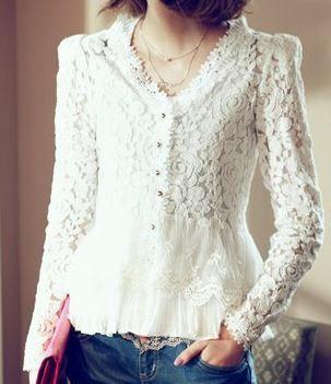 linda blusa de renda