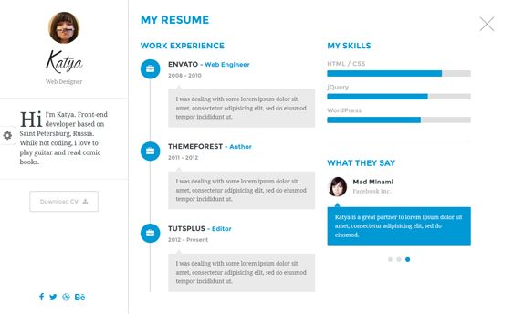 This resume and CV Joomla theme offers unlimited colors, a - google is my resume