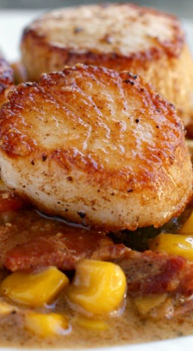 Seared scallops, Asia online and Scallops on Pinterest