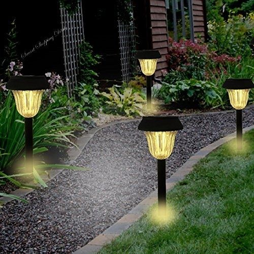 4pcs Solar Pathway Led Lights Outdoor