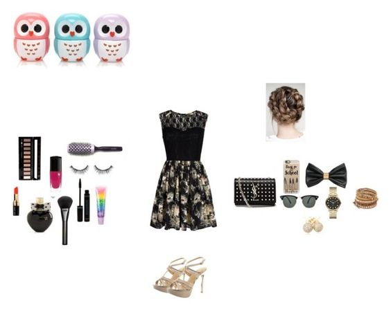 """""""Tenue soirée 1"""" by manon-smack ❤ liked on Polyvore featuring Mela Loves London, Cheville, Yves Saint Laurent, Casetify, Ray-Ban, H&M, Marc by Marc Jacobs, Chan Luu, Loushelou and Gucci"""